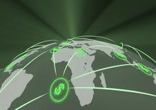 Globale financiën vector illustratie