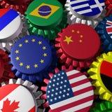 Globale Finanzierung und Handel Stockbilder