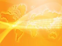 Globale gegevensoverdracht Stock Foto's
