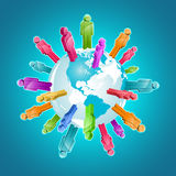 Globale Gemeinschaft. Stockfoto