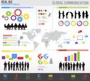 Globale Geschäftskommunikationen  Lizenzfreies Stockbild