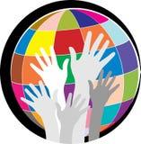 Globale handen vector illustratie