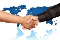 Globale handschok Royalty-vrije Stock Afbeeldingen