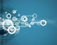Globale het concepten van de bedrijfs oneindigheidscomputertechnologie achtergrond stock illustratie