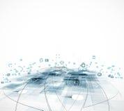 Globale het concepten van de bedrijfs oneindigheidscomputertechnologie achtergrond Stock Afbeelding