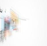 Globale het concepten van de bedrijfs oneindigheidscomputertechnologie achtergrond royalty-vrije illustratie