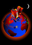 Globale het Verwarmen Vector Stock Foto