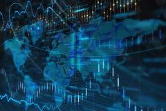 Globale industrie, handels en muntuitwisseling Royalty-vrije Stock Fotografie