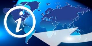 Globale Informationen Stockbild