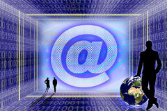 Globale Informationstechnologie. lizenzfreies stockbild