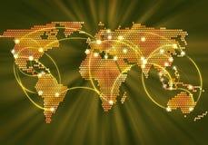 Globale interactie Stock Foto