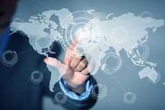 Globale Interaktion Lizenzfreies Stockfoto