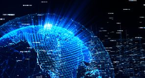 Globale Internationale Connectiviteitsachtergrond vector illustratie