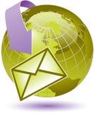 Globale Internet mededelingen stock illustratie