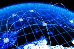 Globale Kommunikationen Lizenzfreies Stockbild