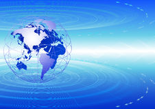 Globale Kommunikationen. Stockbild
