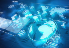 Globale Kommunikationen stock abbildung