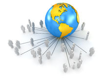 Globale Kommunikationen Stockfoto