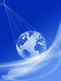Globale Kommunikationen Stockbild