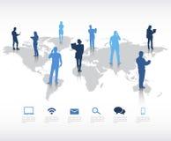 Globale Kommunikations-Vektor Lizenzfreie Stockbilder