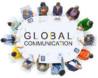 Globale Kommunikations-Verbindungs-Gesprächs-Konzept Stockbild