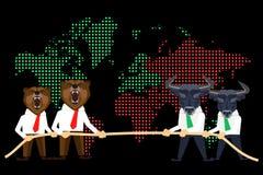 Globale Krise des Finanzmarkts Lizenzfreies Stockbild