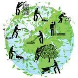 Globale landbouw Royalty-vrije Stock Afbeelding