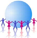 Globale Leute Lizenzfreies Stockfoto