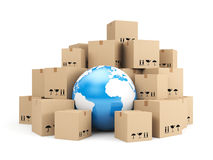 Globale levering Stock Afbeelding
