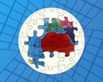 Globale Lösung Lizenzfreies Stockbild