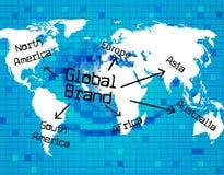 Globale Marke stellt global Globalisierung dar und globalisiert Lizenzfreies Stockbild