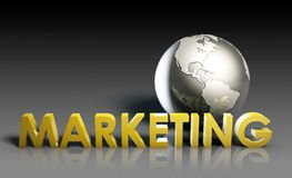 Globale Marketing royalty-vrije illustratie
