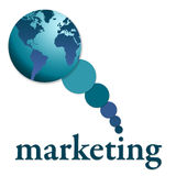 Globale marketing vector illustratie