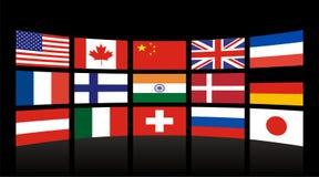 Globale Markierungsfahnen Lizenzfreie Stockfotos