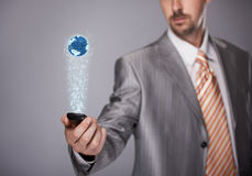 Globale mededeling Stock Afbeelding