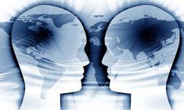 Globale mededeling Stock Fotografie