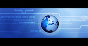 Globale mededeling. Stock Afbeelding
