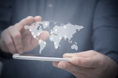 Globale mededelingen en technologisch royalty-vrije stock fotografie