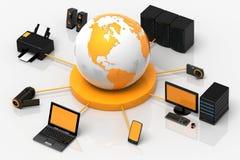 Globale Media Royalty-vrije Stock Afbeelding