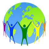 Globale mensen stock illustratie
