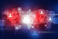 Globale mensenaansluting Royalty-vrije Stock Afbeelding
