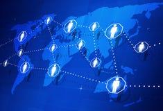 Globale Mensenverbinding Stock Foto