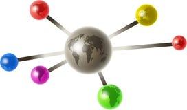 Globale molecule Royalty-vrije Stock Afbeeldingen
