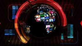 Globale Nachrichten-Medientechnik-Grafiken stock abbildung