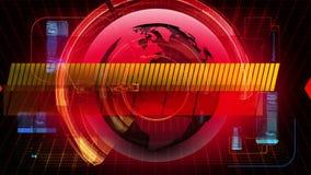 Globale Nachrichten-Medientechnik-grafischer Animations-Hintergrund lizenzfreie abbildung