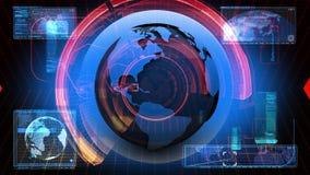 Globale Nachrichten-Medientechnik-grafischer Animations-Hintergrund stock abbildung