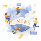 Globale Nachrichten-Metapher lizenzfreie abbildung