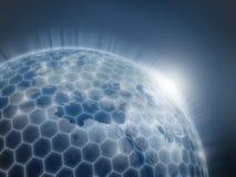 Globale netwerk 3d illustratie Stock Foto