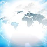 Globale netwerkachtergrond Royalty-vrije Stock Afbeeldingen