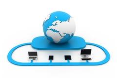 Globale netwerkapparaten Stock Illustratie